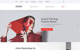"""John Fortezi - Elegant Fashion Clothing Multipage HTML"" Responsive Website template"