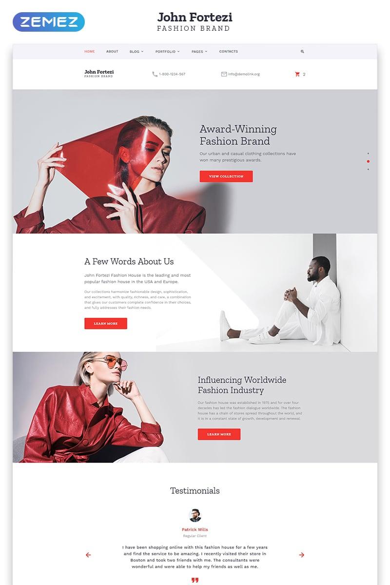 John Fortezi - Elegant Fashion Clothing Multipage HTML Template Web №57697