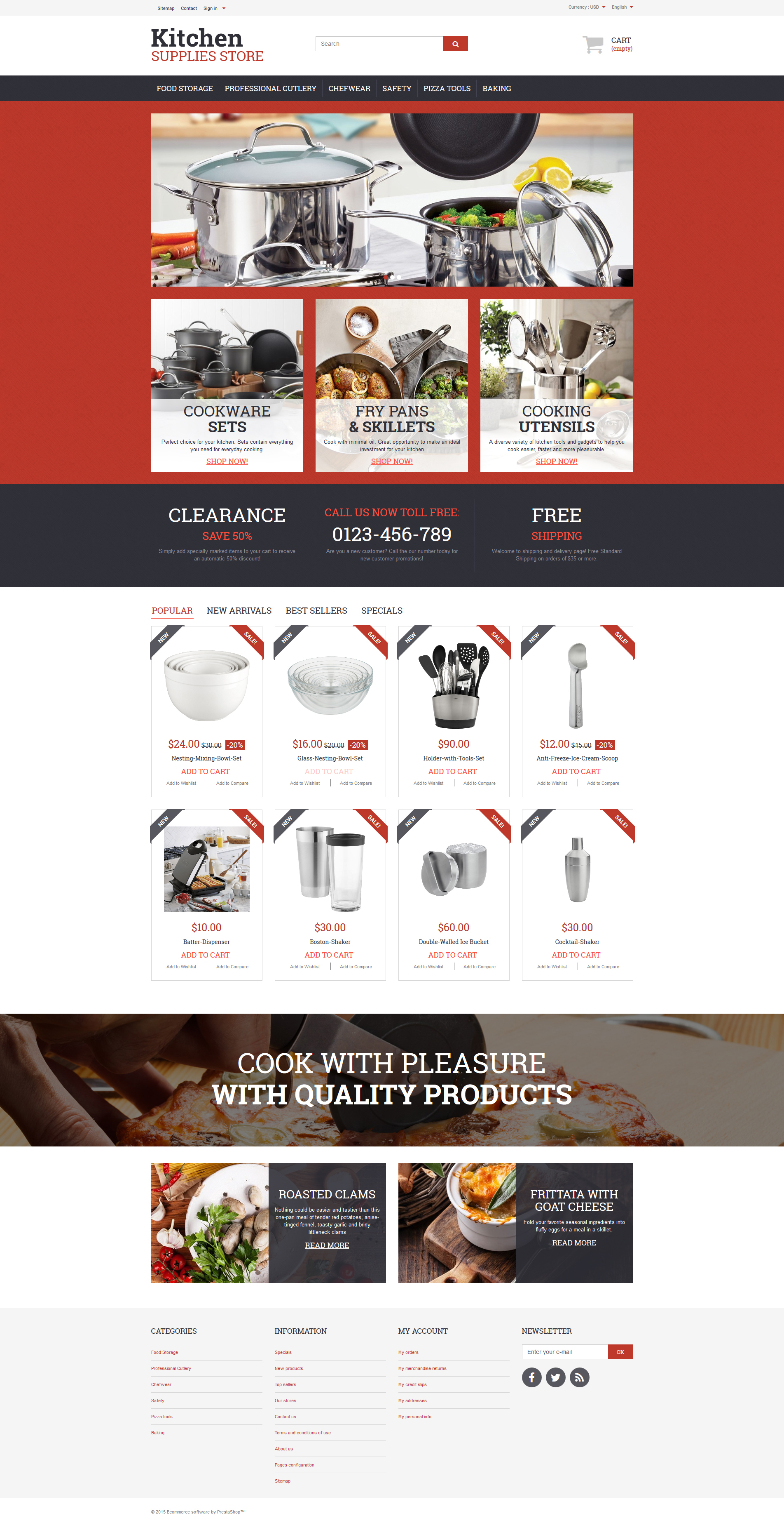 Kitchen Supplies Store PrestaShop Theme