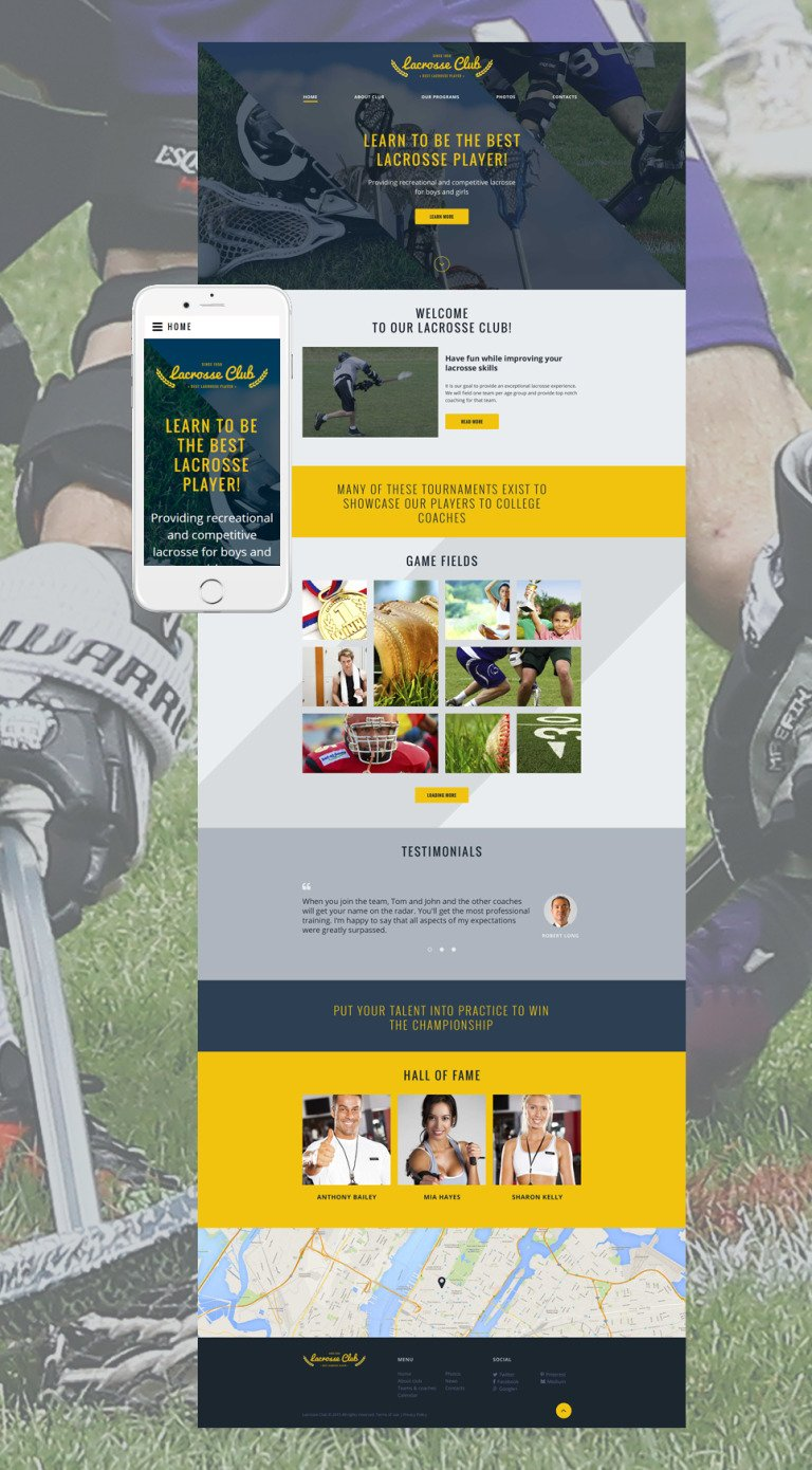 Lacrosse Club Website Template New Screenshots BIG