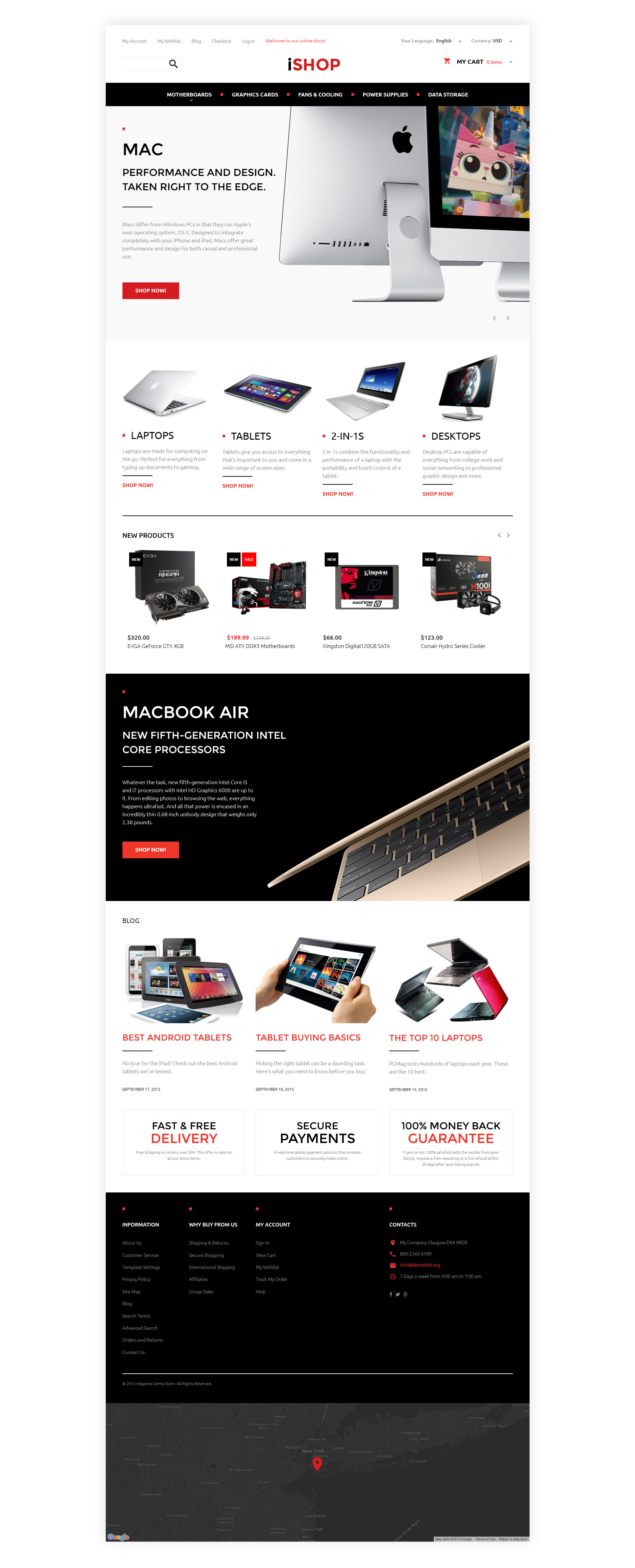 "Magento Theme namens ""Computer-Hardware"" #57699"
