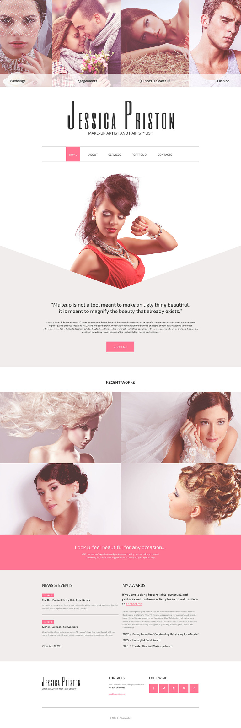 Make-up Artist Website Template New Screenshots BIG