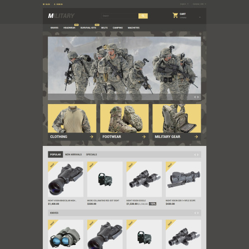 Military - PrestaShop Template based on Bootstrap