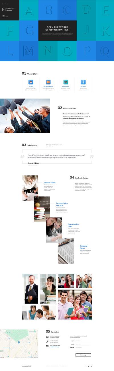 Modèle Web adaptatif  pour site d'école de langues