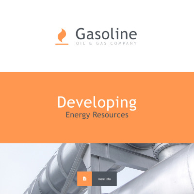 Gas & Oil Responsive Template Di Newsletter