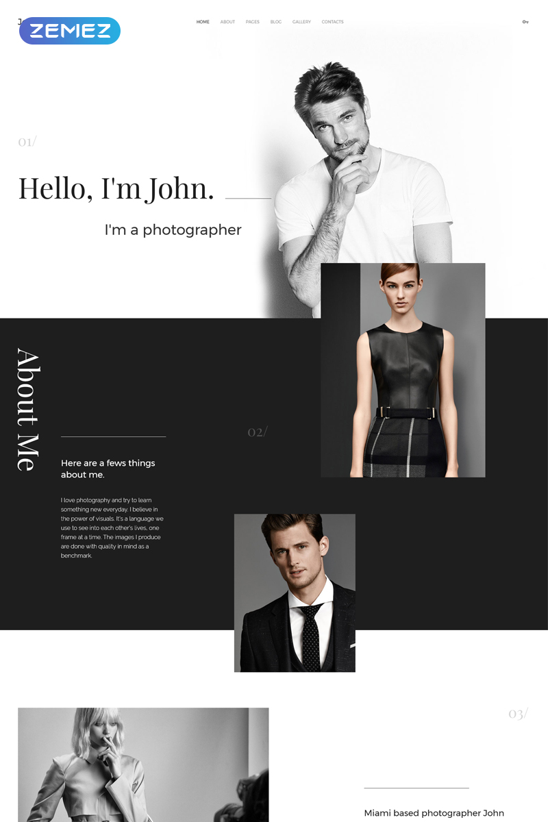 "Modello Joomla #57698 ""Personal Portfolio"" - screenshot"