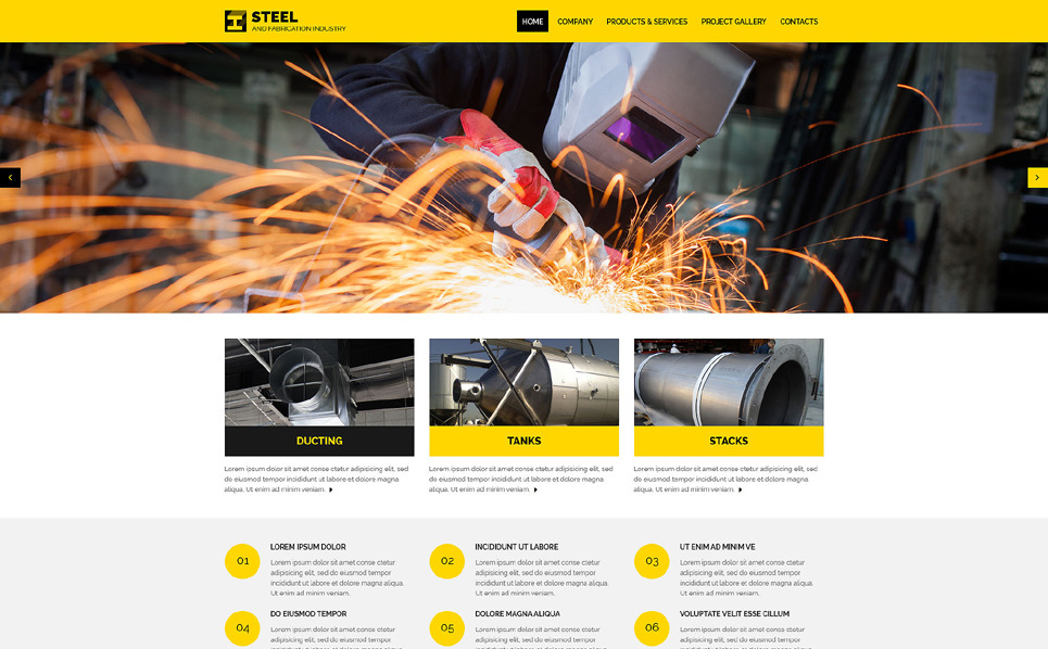 Modello Siti Web Responsive #57623 per Un Sito di Industria New Screenshots BIG