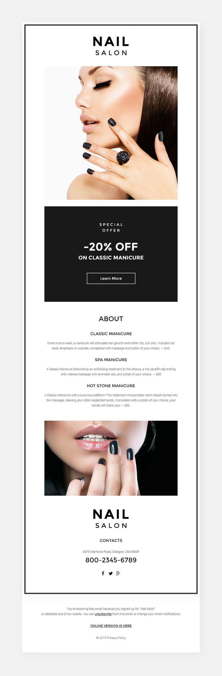 Nail Salon Responsive Newsletter Template New Screenshots BIG