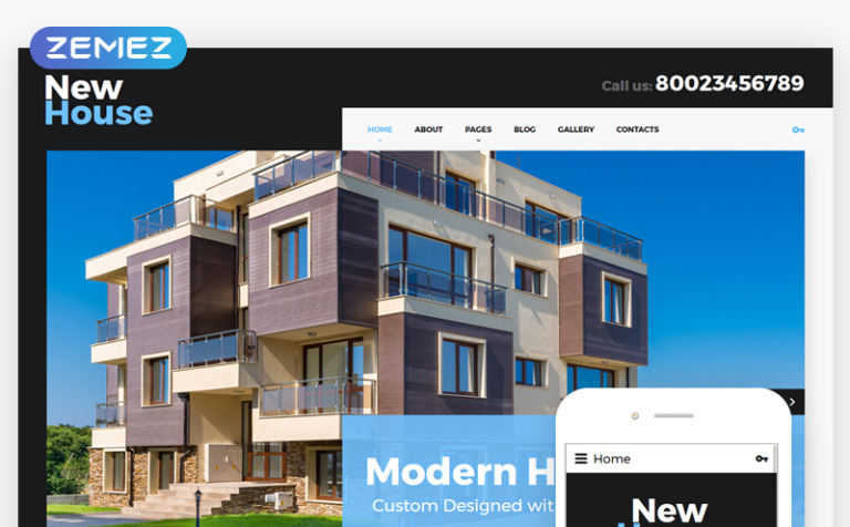 New House Joomla Template