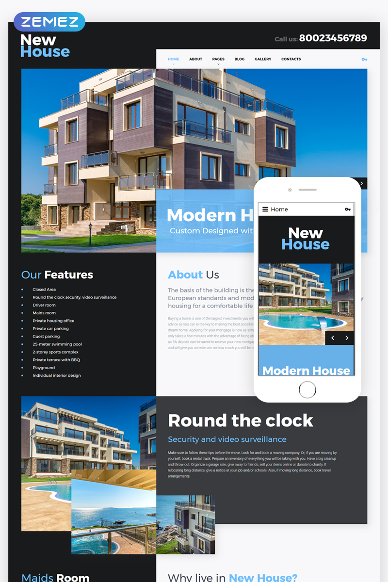 New House Joomla Template - screenshot