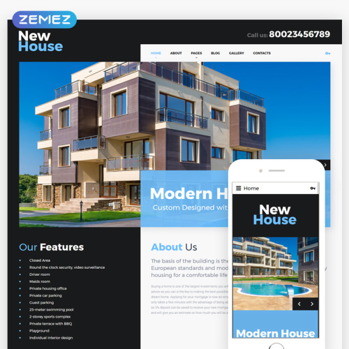 New House - Joomla! Template based on Bootstrap