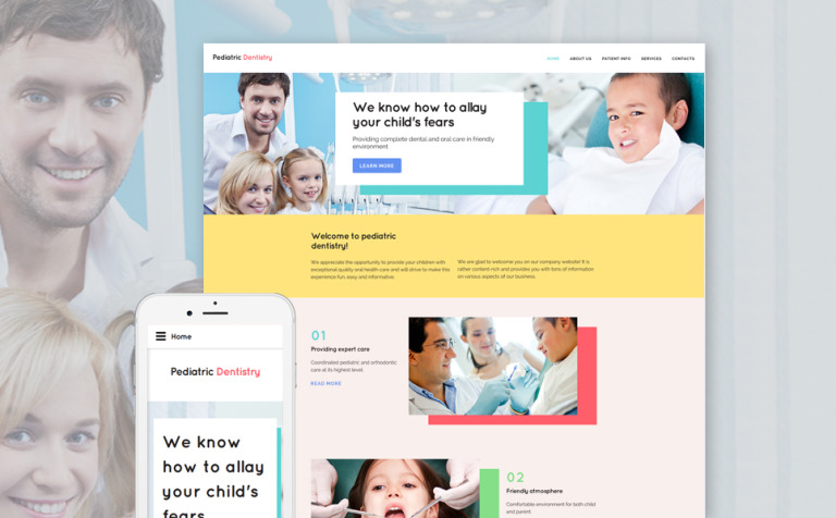 Pediatric Dentistry Website Template