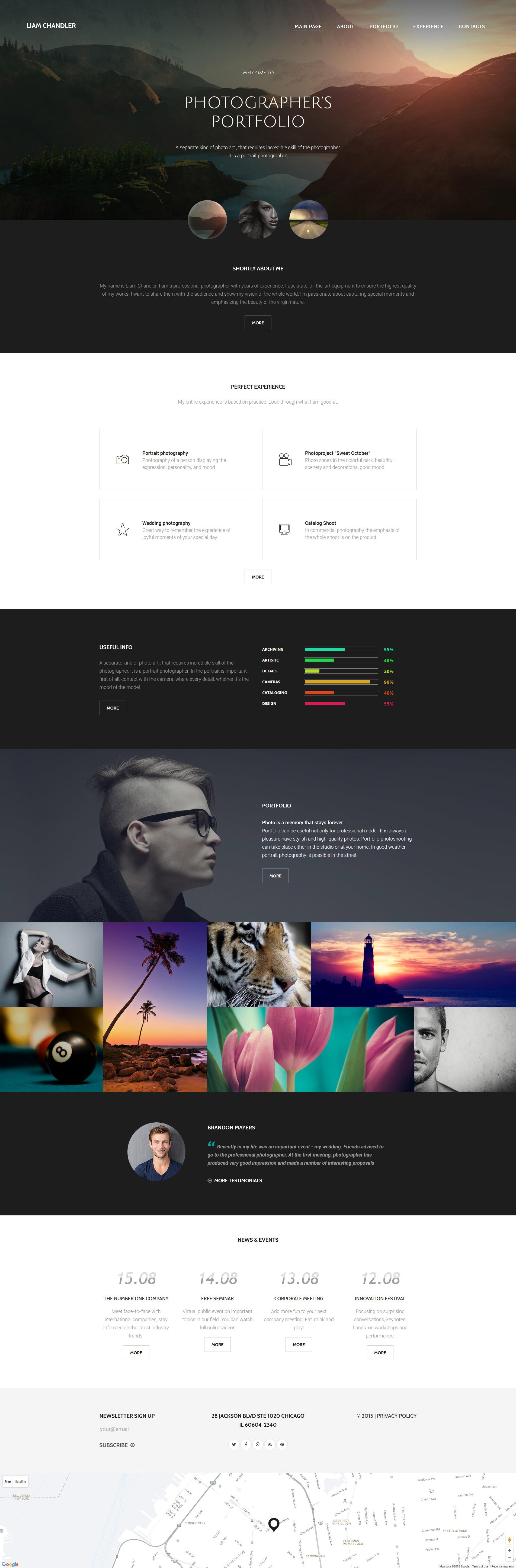 """Photographer Portfolio"" Responsive Website template №57646"