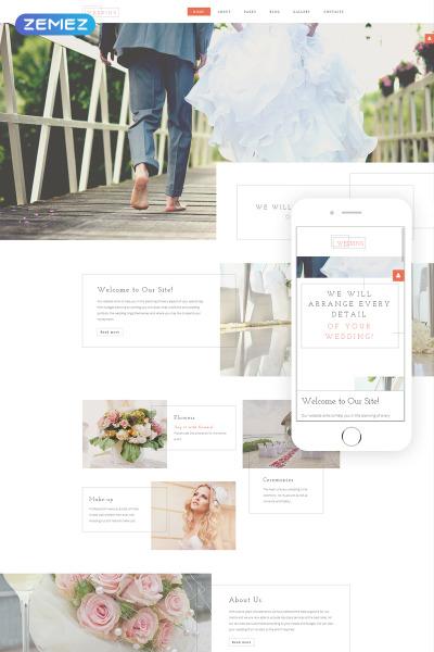 Plantilla Joomla para Sitio de Organización de bodas #57670