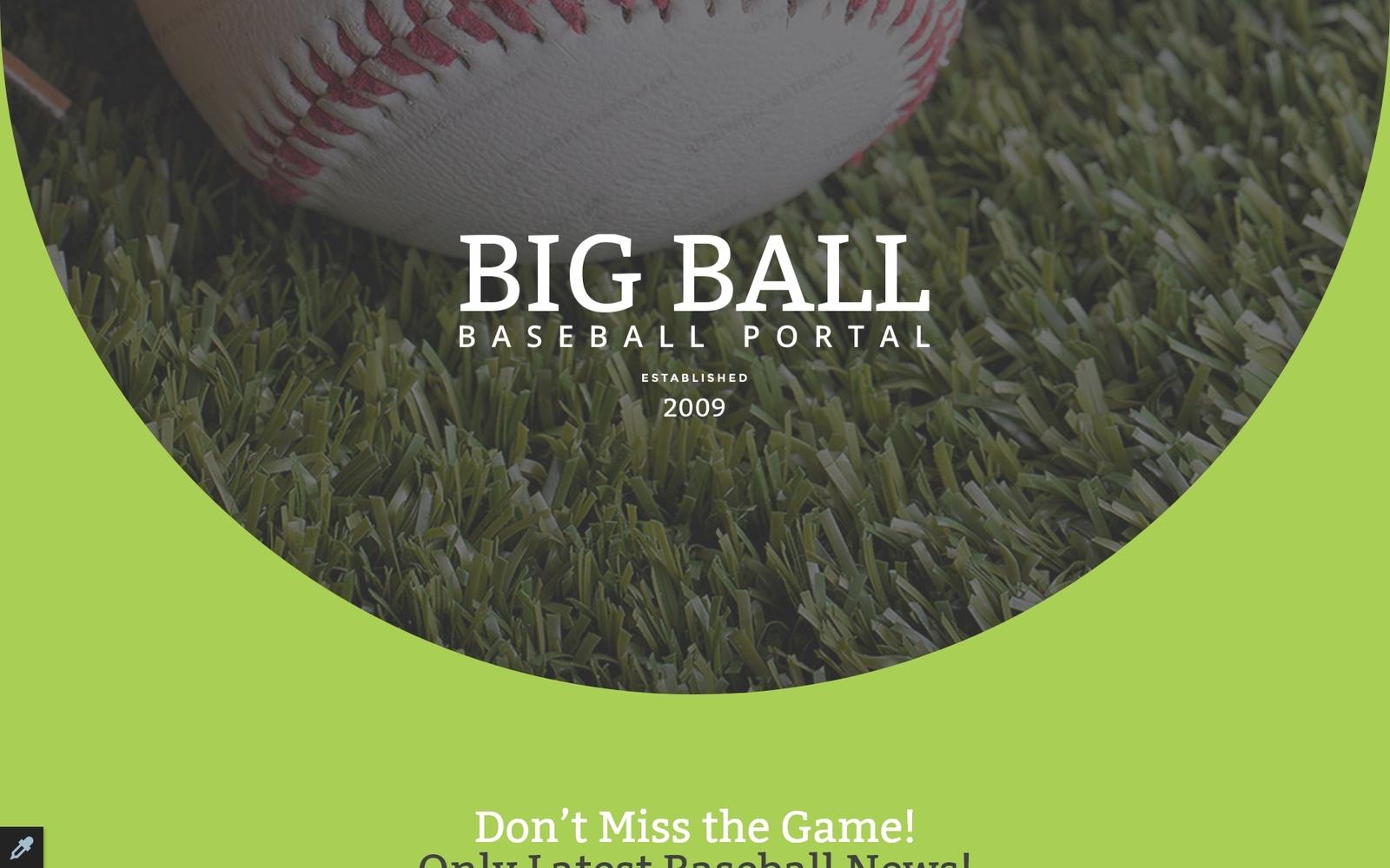 Plantilla Para Página De Aterrizaje Responsive para Sitio de Béisbol #57628