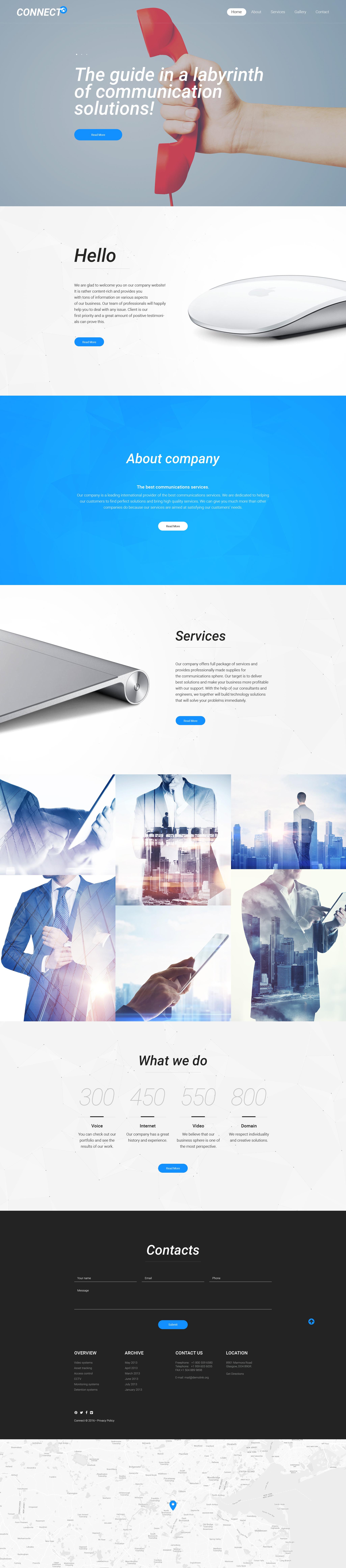 Plantilla Web Responsive para Sitio de Proveedores de servicios de Internet #57663
