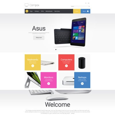 "PrestaShop Theme namens ""Compex"" #57692"