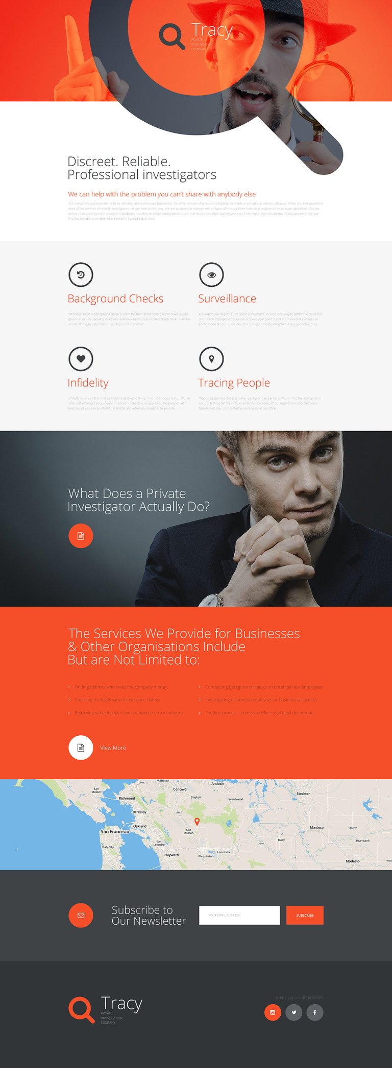 Private Investigator Responsive Landing Page Template New Screenshots BIG