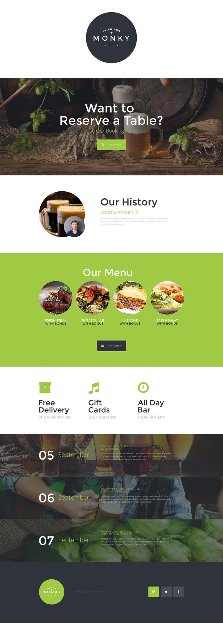 Pub Responsive Landing Page Template New Screenshots BIG