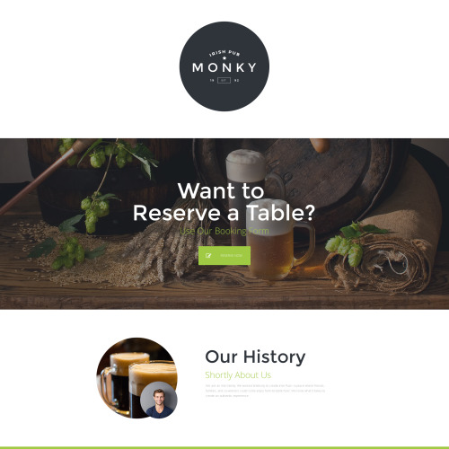 Monky - Responsive Landing Page Template