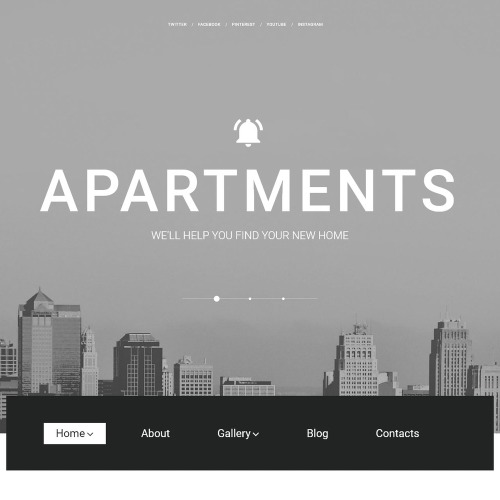 Apartments - WordPress Template based on Bootstrap