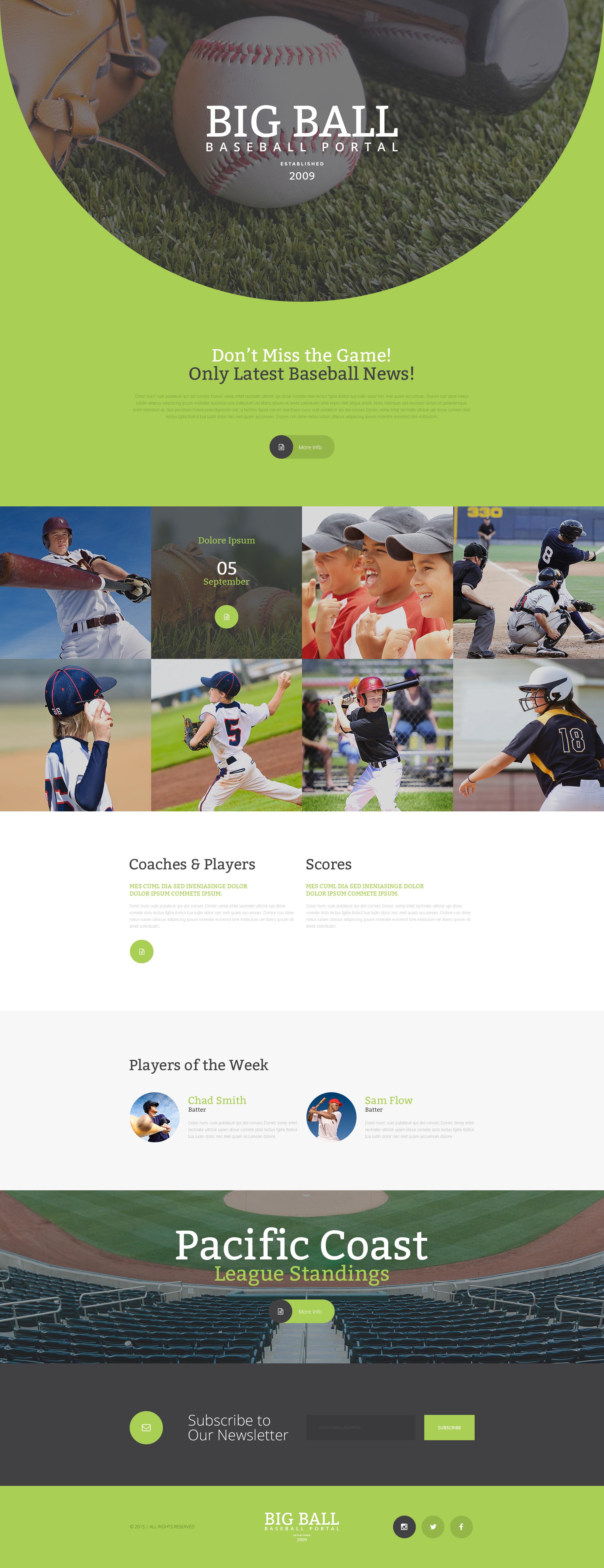 Responsive Beyzbol Açılış Sayfası #57628