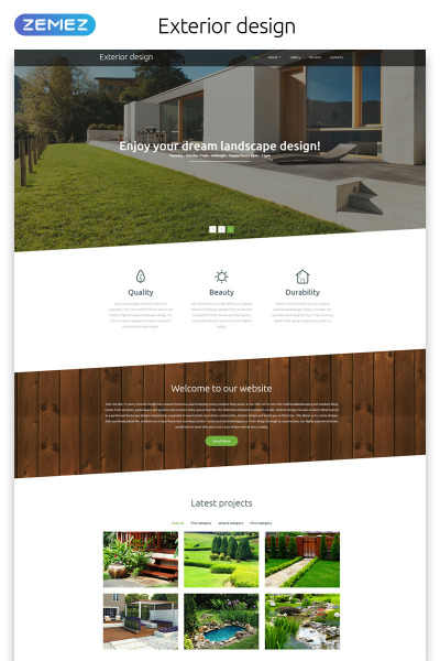 Exterior Design Responsive Web Sitesi Şablonu