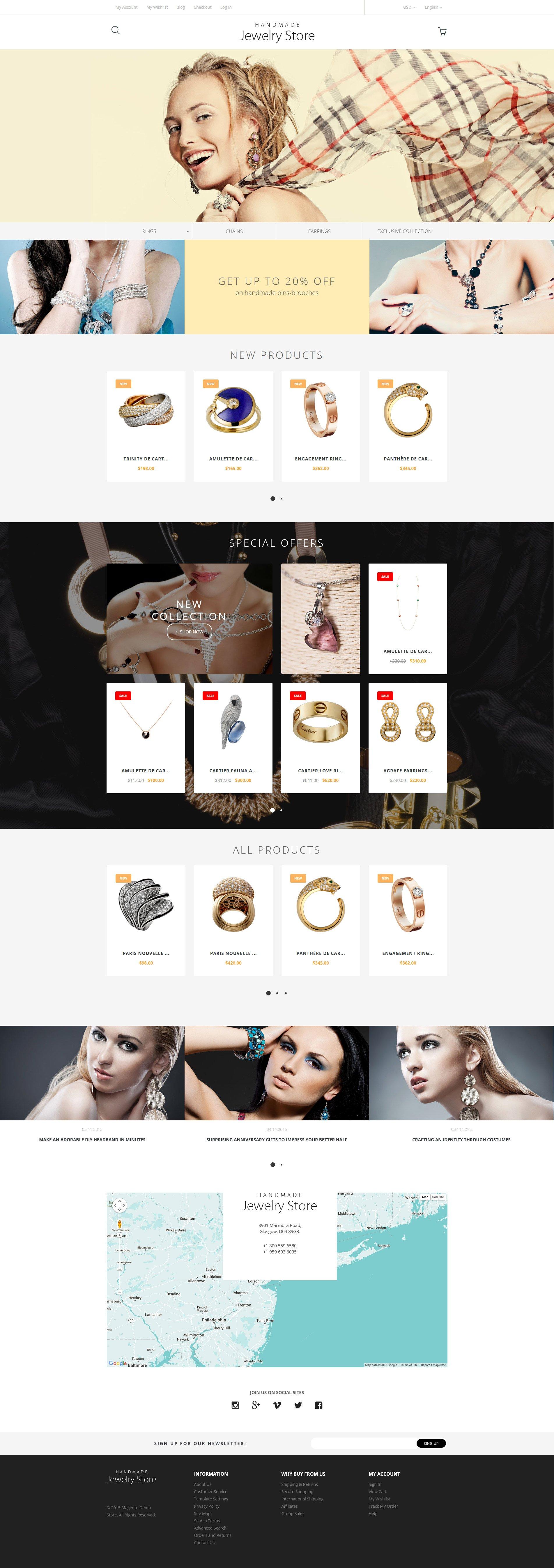 Responsive Handmade Jewelry Magento #57684