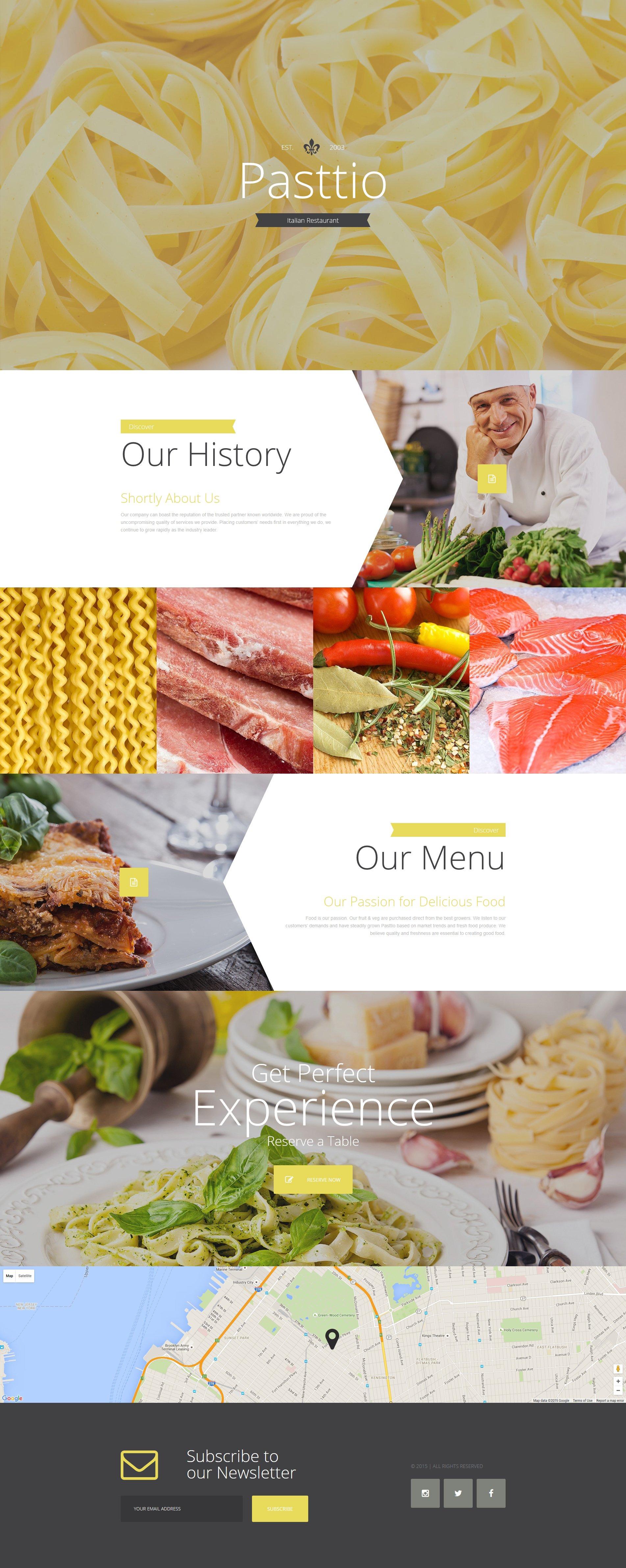 Responsive İtalyan Restaurant Açılış Sayfası #57629