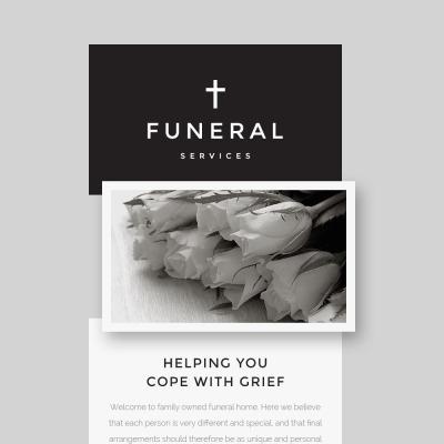 Responsive Newsletter Vorlage für Trauergottesdienst