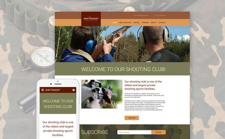 Website Vorlage #57665 für Schießen