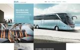 Responsywny szablon strony www Bus and Coach Hire #57680