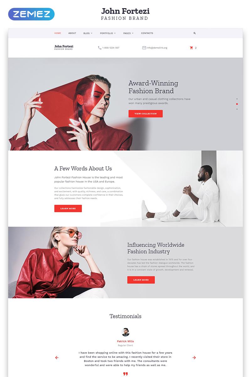 """Responzivní Šablona webových stránek """"John Fortezi - Elegant Fashion Clothing Multipage HTML"""" #57697"""