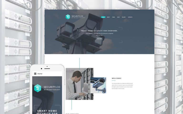 Security Co. Joomla Template New Screenshots BIG