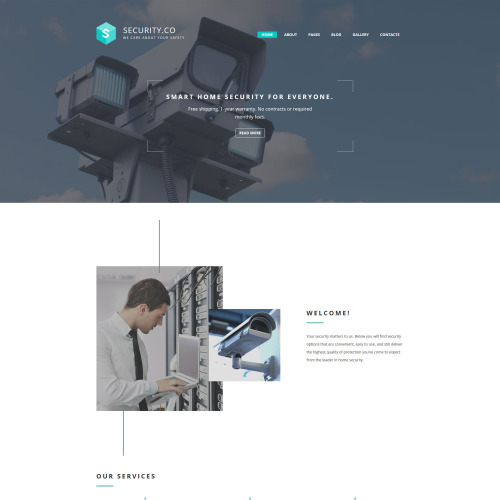 Security Co. - Joomla! Template based on Bootstrap