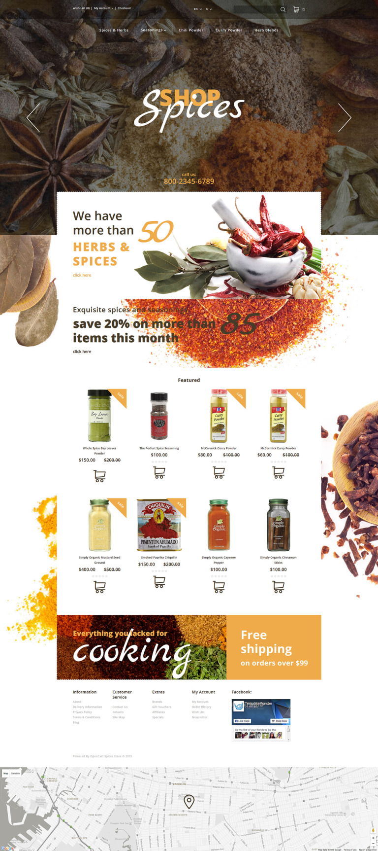 Spices Shop OpenCart Template New Screenshots BIG