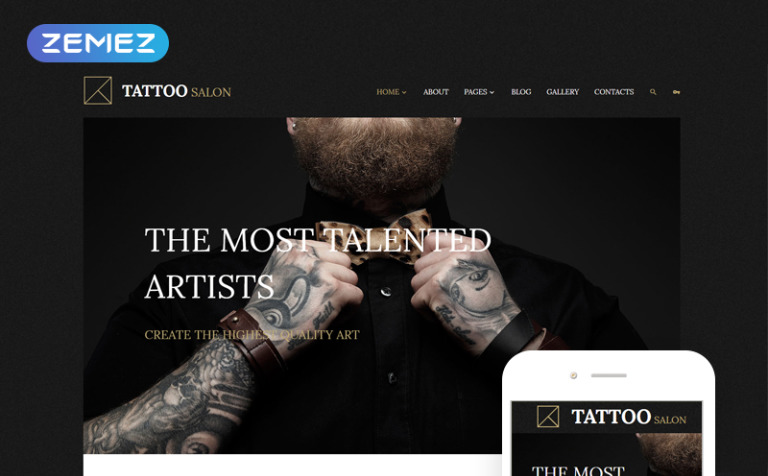 Tattoo Salon Joomla Template New Screenshots BIG