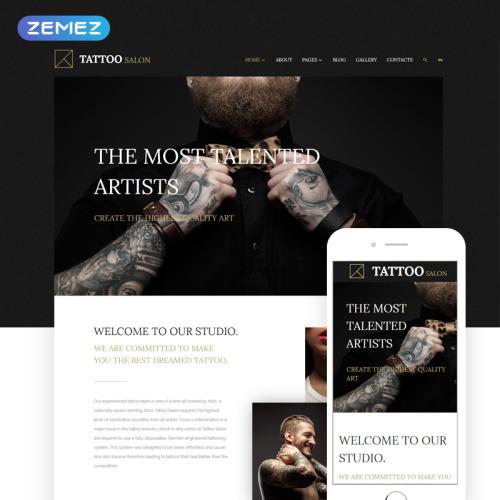 Tattoo Salon - Joomla! Template based on Bootstrap