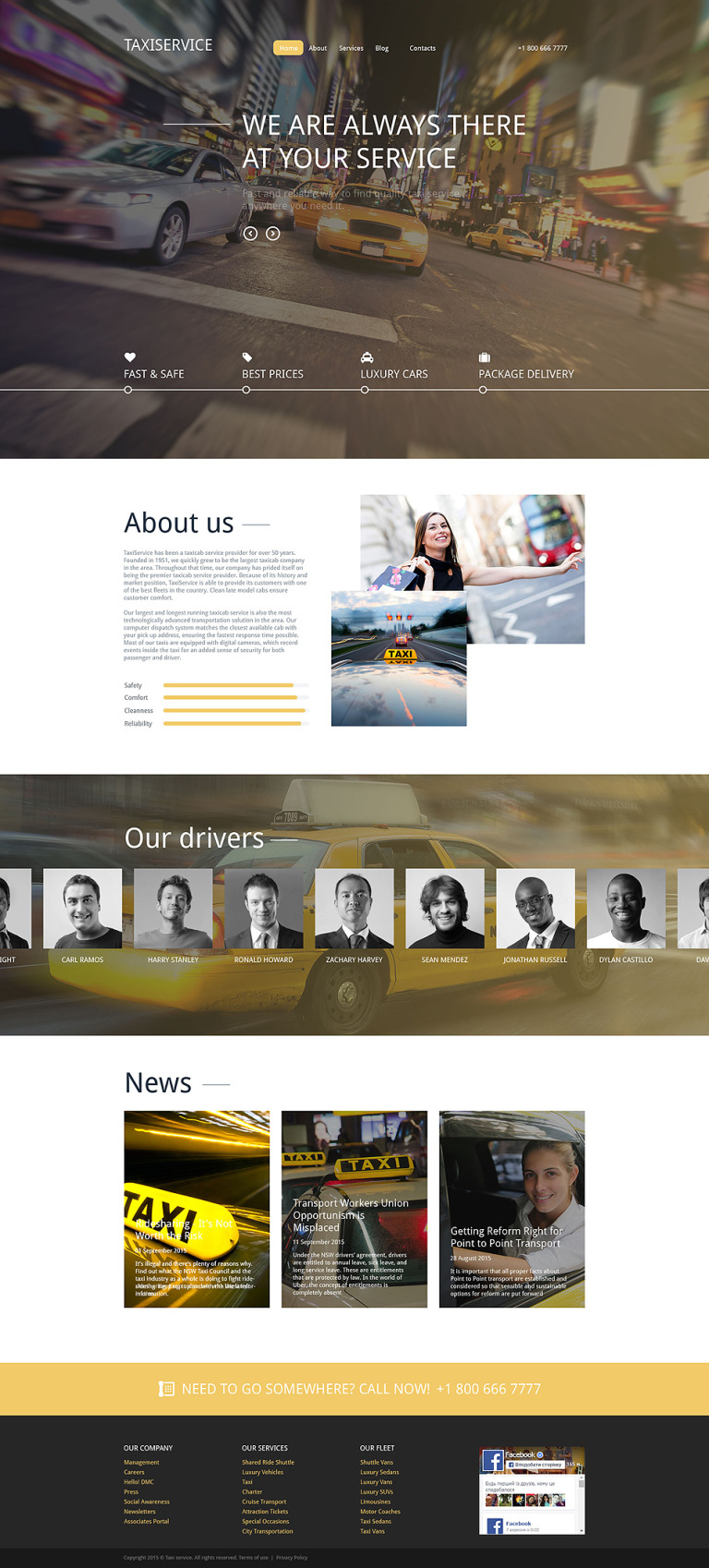 Taxiservice Drupal Template New Screenshots BIG