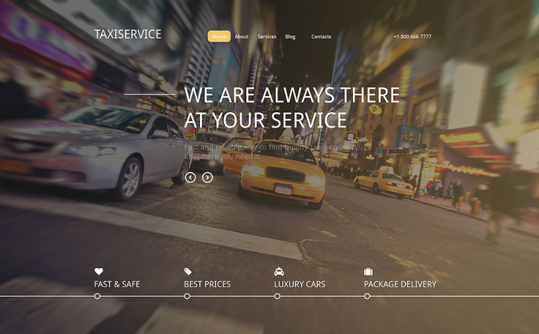 Taxiservice Drupal Template
