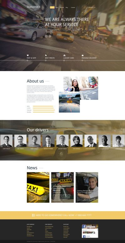 Taxiservice Drupal Template #57637