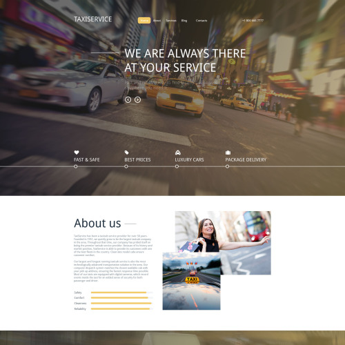 Taxi Service - Responsive Drupal Template