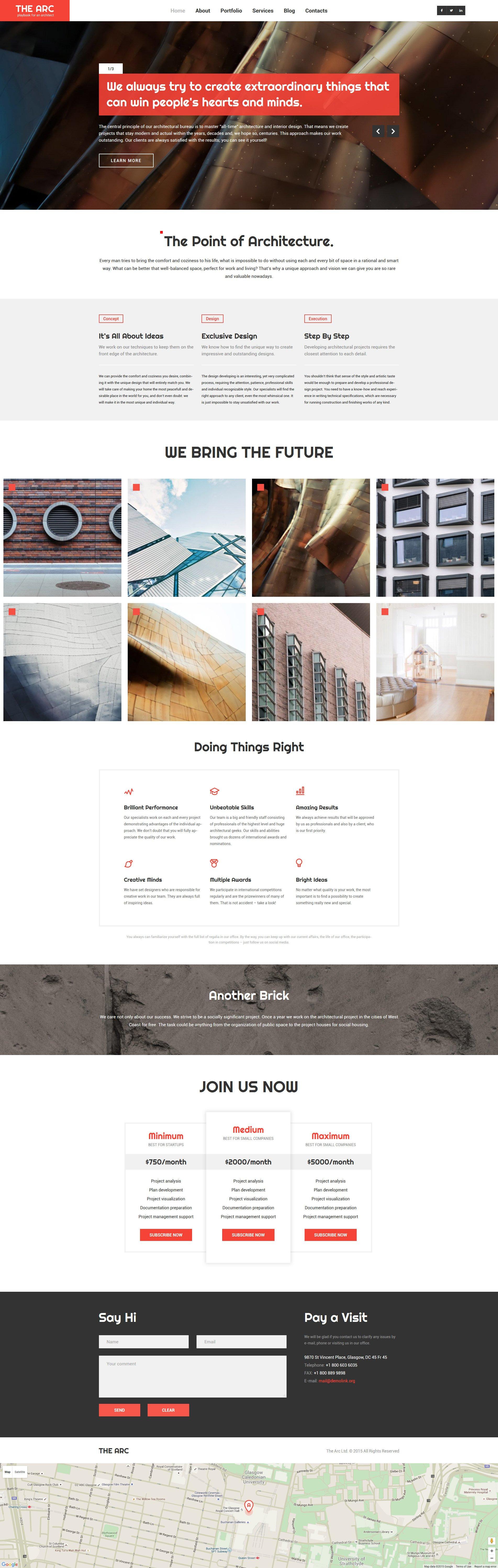 "Tema De WordPress ""Construction Company Responsive WordPress Theme"" #57688"