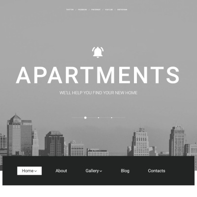 Tema de WordPress #57617 para Sitio de Agencias inmobiliarias