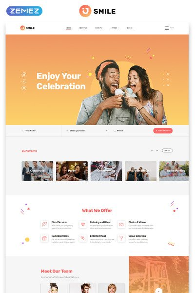 Event Planner Responsive Template Siti Web
