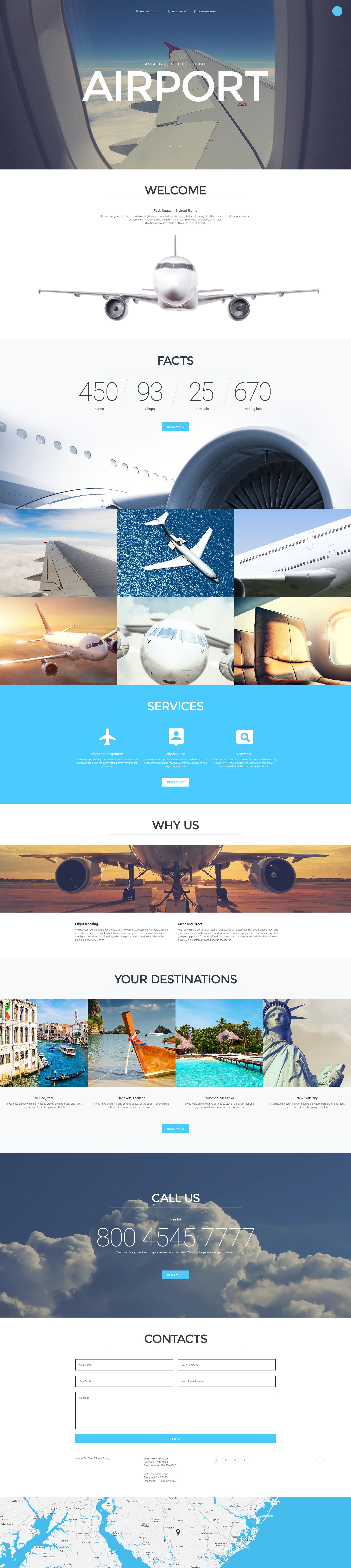 """Template Joomla #57652 """"Airport"""""""