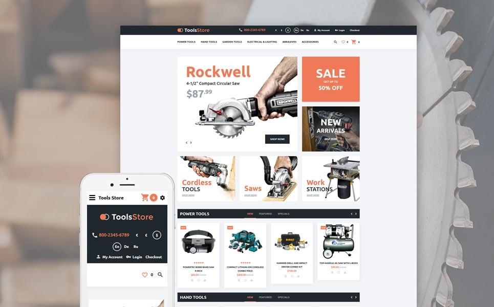 Tools Store OpenCart Template New Screenshots BIG