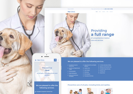 veterinarian site template