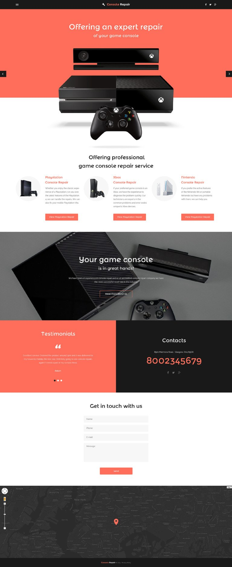 Video Games Website Template New Screenshots BIG