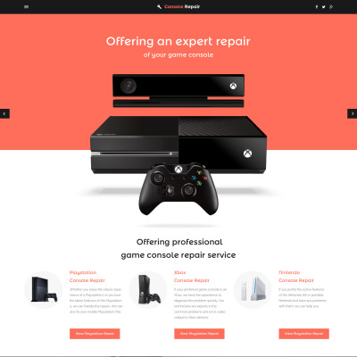 Playstation consoles website template games responsive website template toneelgroepblik Image collections
